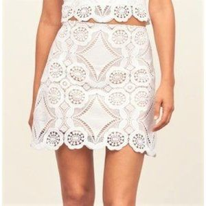 Abercrombie White Lace A-line Skirt
